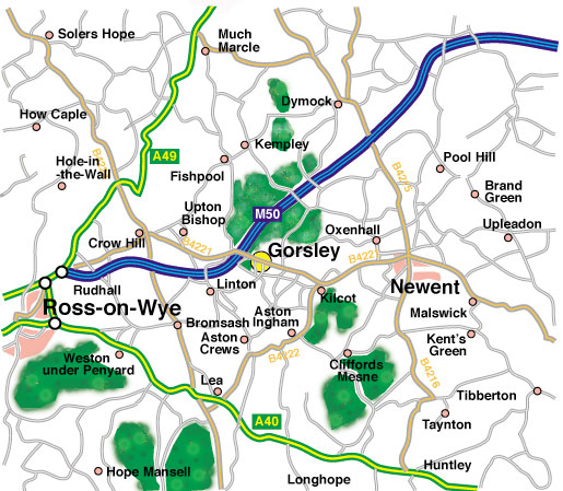 Map of Gorsley